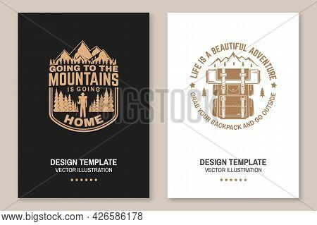 Life Is A Beautiful Adventure. Vector Concept For Shirt Or Logo, Print, Stamp. Flyer, Brochure, Bann