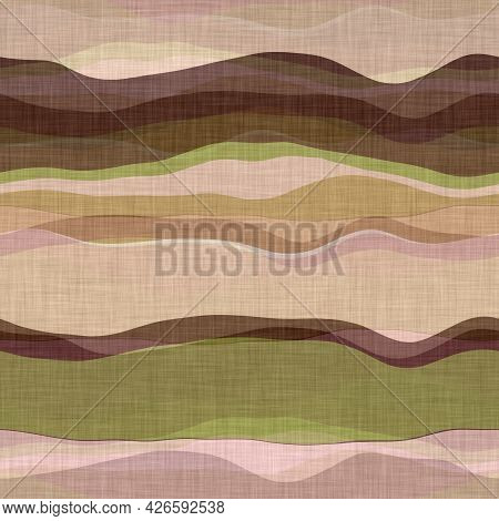 Mid Century Modern Stripe Fabric 1960s Style Pattern. Seamless Graphic Broken Line Repeat Texture. D