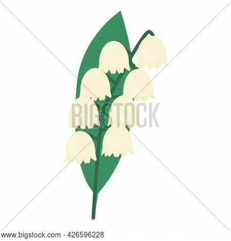 Lily Of The Valley Icon Isolated Vector Illustration. May Lily Flower.