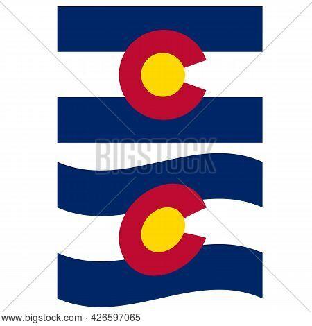 Colorado Flag Icon On White Background. National Colorado Flag Sign. Colorado State Flag Symbol. Fla