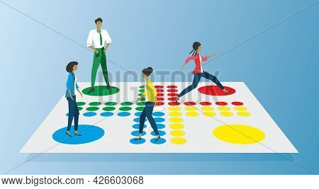 Competition, Who Is The Best Seller Or Maybe Recruit Process. Game Board Fia, Ludo. Dimension 16:0.