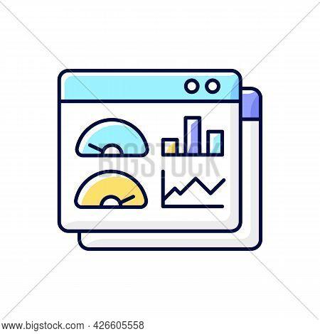 Productivity Dashboard Rgb Color Icon. Performance Statistics. Presentation For Productivity Evaluat