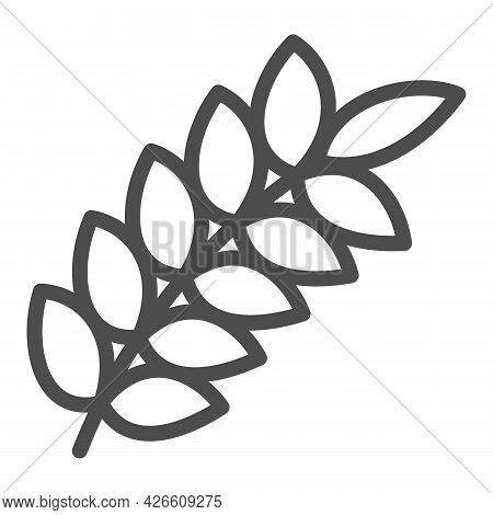 Wheat Ear Line Icon, Food Harvest Concept, Wheat Spikelet Vector Sign On White Background, Outline S