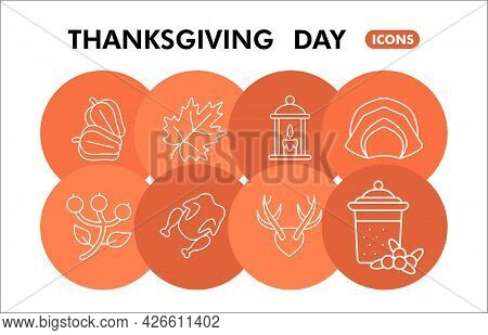 Modern Thanksgiving Infographic Design Template. Harvest Celebration Inphographic Visualization With