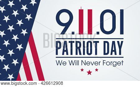 National Day Of Prayer And Remembrance For The Victims Of The Terrorist Attacks On 09.11.2001. Vecto