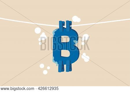 Bitcoin And Cryptocurrency Using For Money Laundering Or Payment In Dark Market, Financial Crime Or