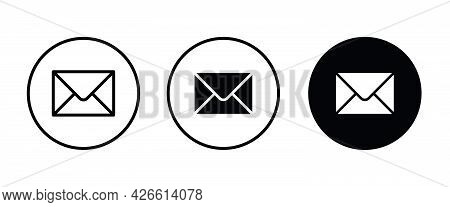 Mail Icon, Email Envelope Icons Button, Vector, Sign, Symbol, Logo, Illustration, Editable Stroke, F