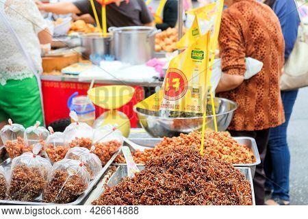 Bangkok-thailand Oct 7 2018: Vegetarian Food In The Market On Vegetarian Festival. Vegetarian Food I