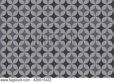 Gray Monochromatic Geometric Shapes Seamless Pattern Background.design For Fabric,print,product,tile
