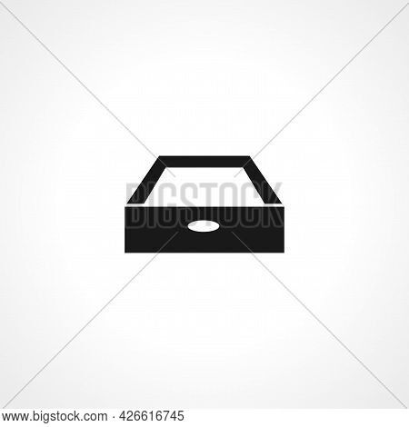 Drawer Sign. Drawer Isolated Simple Vector Icon