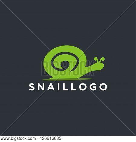 Snail Animal Logo Icon Design Vector Element