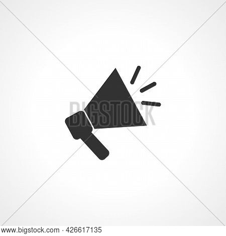 Megaphone Sign. Megaphone Isolated Simple Vector Icon