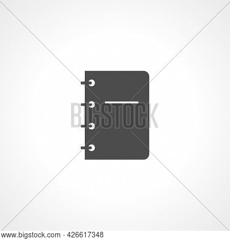 Notebook Sign. Notebook Isolated Simple Vector Icon