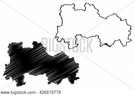 Havelland District (federal Republic Of Germany, Rural District, State Of Brandenburg) Map Vector Il