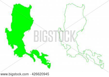 Luzon Island (southeast Asia, Republic Of The Philippines) Map Vector Illustration, Scribble Sketch