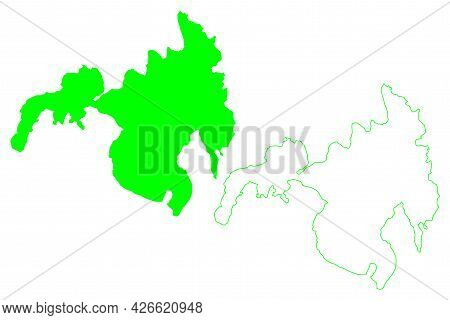 Mindanao Island (southeast Asia, Republic Of The Philippines) Map Vector Illustration, Scribble Sket