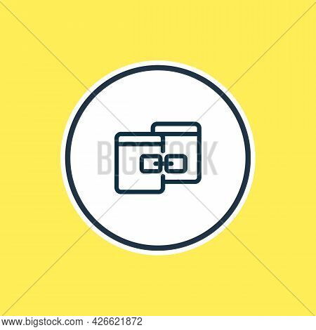 Vector Illustration Of Related Content Icon Line. Beautiful Advertising Element Also Can Be Used As