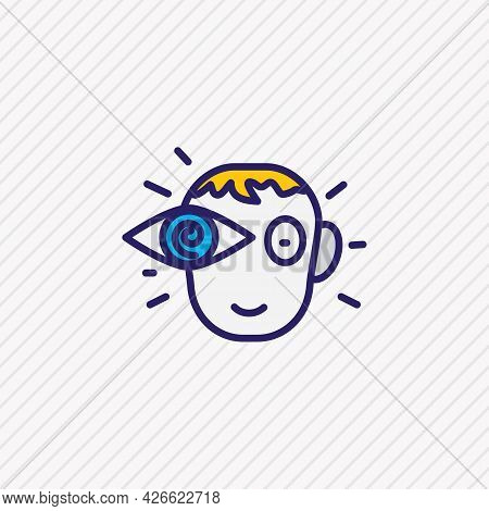 Vector Illustration Of Vision Icon Colored Line. Beautiful Emoji Element Also Can Be Used As View Ic