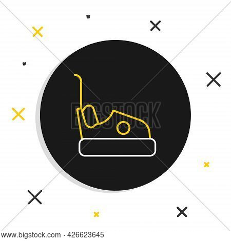 Line Bumper Car Icon Isolated On White Background. Amusement Park. Childrens Entertainment Playgroun