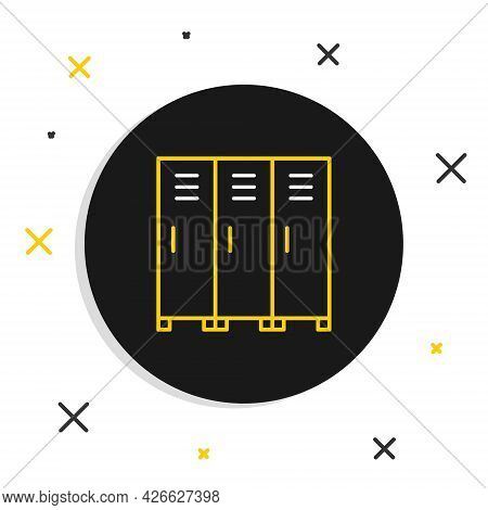 Line Locker Or Changing Room For Hockey, Football, Basketball Team Or Workers Icon Isolated On White