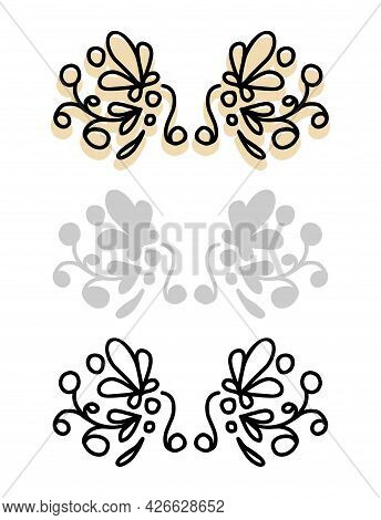 Floral Beautiful Vignette, Lace Header Pattern. The Icon Is A Love Holiday Decor.