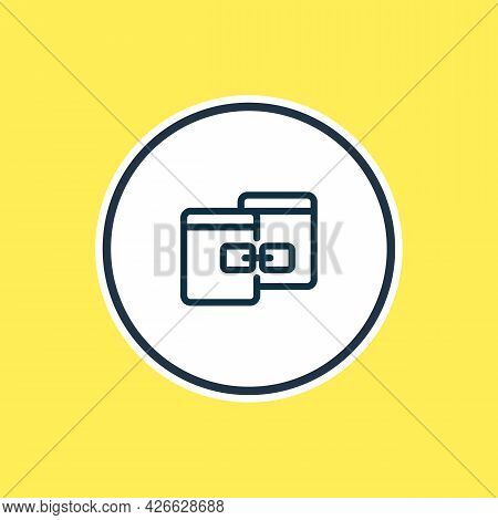 Illustration Of Related Content Icon Line. Beautiful Advertisement Element Also Can Be Used As Link