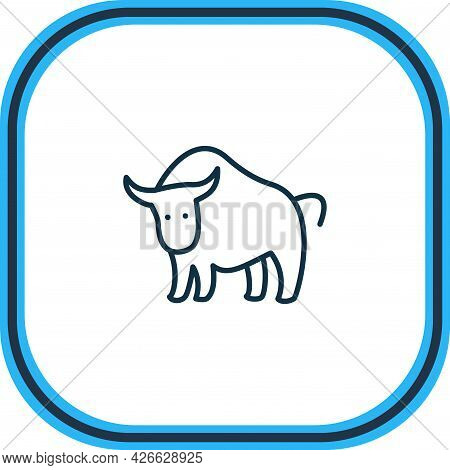 Illustration Of Bull Icon Line. Beautiful Animals Element Also Can Be Used As Ox Icon Element.