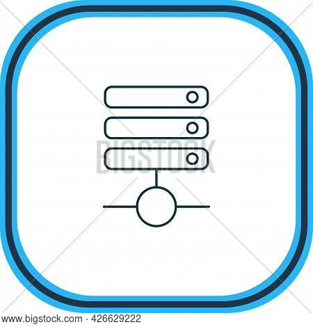 Illustration Of Database Icon Line. Beautiful Internet Element Also Can Be Used As Server Icon Eleme