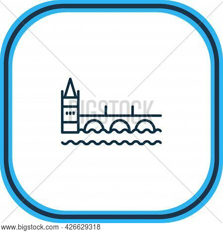 Illustration Of Charles Bridge Icon Line. Beautiful History Element Also Can Be Used As Prague Icon