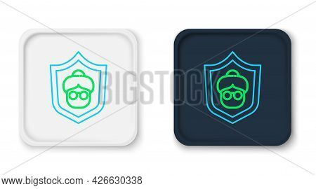 Line Grandmother Icon Isolated On White Background. Colorful Outline Concept. Vector