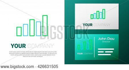 Line Graph, Schedule, Chart, Diagram, Infographic, Pie Graph Icon Isolated On White Background. Colo