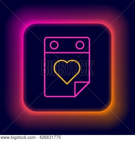 Glowing Neon Line Doctor Appointment Icon Isolated On Black Background. Calendar, Planning Board, Ag