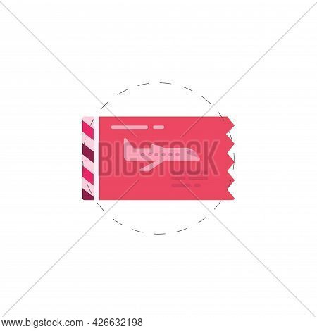 Airplane Ticket Clipart. Boarding Pass Isolated Simple Vector Clipart