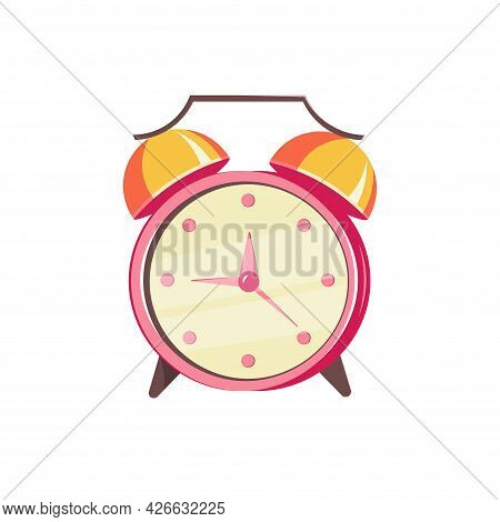 Alarm Clock Clipart. Alarm Clock Isolated Simple Vector Clipart