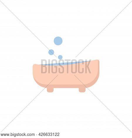Bath Clipart. Bath Isolated Simple Vector Clipart