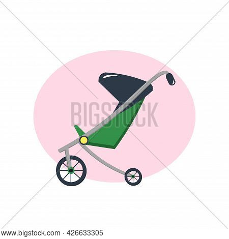 Baby Carriage Clipart. Baby Carriage Isolated Simple Vector Clipart