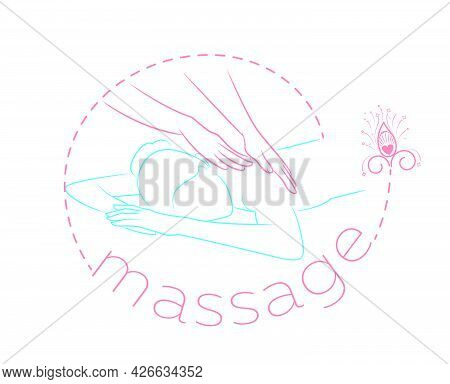 Massage Icon  In Linear Style Relaxing Patient