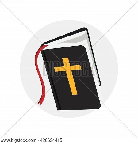 Holy Bible Clipart. Bible Isolated Simple Vector Clipart