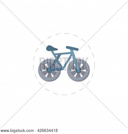 Bicycle Clipart. Bicycle Isolated Simple Vector Clipart