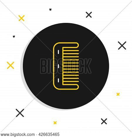 Line Hairbrush Icon Isolated On White Background. Comb Hair Sign. Barber Symbol. Colorful Outline Co