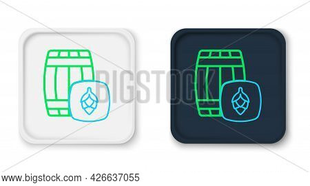 Line Wooden Barrel Icon Isolated On White Background. Alcohol Barrel, Drink Container, Wooden Keg Fo