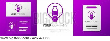 Logotype Lactose Free Icon Isolated On White Background. Logo Design Template Element. Vector
