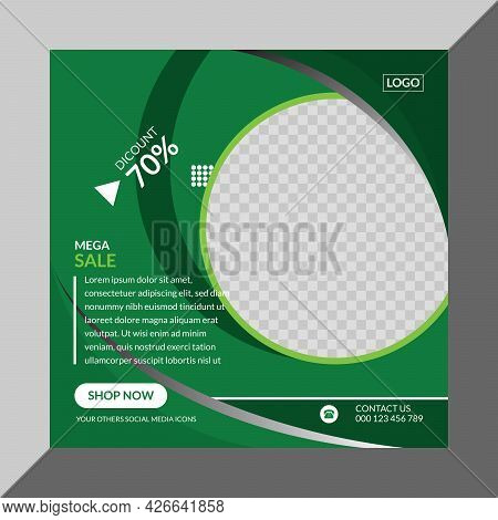 Creative Social Media Banner Design Template Vector