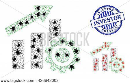 Mesh Polygonal Progress Chart Settings Symbols Illustration Designed Using Infection Style, And Scra