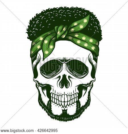 Skull Bandana Vector Illustration For Your Company Or Brand