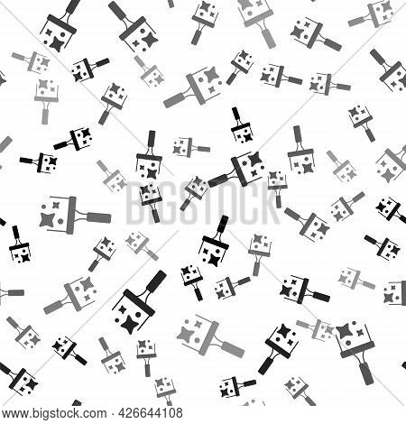 Black Cleaning Service With Of Rubber Cleaner For Windows Icon Isolated Seamless Pattern On White Ba