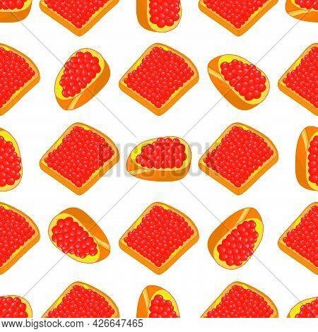 Illustration On Theme Big Pattern Identical Types Fish Caviar