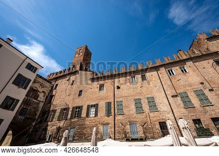 Mantua, The Medieval Tower Of The Cage, Ancient Prison (torre Della Gabbia), Xiii Century And The An