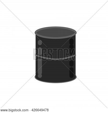 Barrel Of Oil. Combustible Fossil Fuel. Petroleum Packaging.