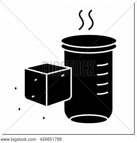 Sugar Alcohols Glyph Icon. Sugar Carbohydrate. Nutrient Supplements. Nutrition Facts. Healthy, Balan